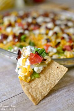 Cobb Dip - SO delicious with tortilla chips!