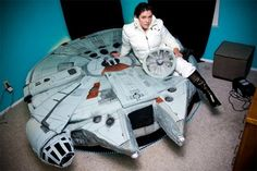 For the Star Wars fans --> The Millennium Falcon Bed