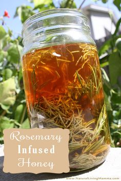 Rosemary Infused Honey Recipe // deliciousobsessions.com #herbs #rosemary #honey