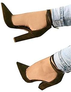 Ferbia Sandals For Women Casual Black Cusp Toe High Heeled Pumps Ankle Strap Shoes High Heel Pumps, Women's Pumps, Heeled Mules, Heeled Sandals, Ankle Strap Shoes, Fashion Shoes, Footwear, Toe, Casual