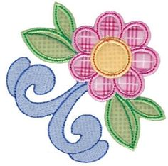 Tweens Applique 3 - 2 Sizes! | Floral - Flowers | Machine Embroidery Designs | SWAKembroidery.com Bunnycup Embroidery