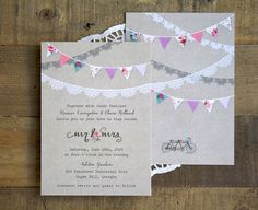 wedding invitations festival - Google Search