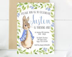 Even the smallest one can change the world peter rabbit nursery peter rabbit invitations custom invitations custom made birthday invitations birthday invites invitation cards peter rabbit party filmwisefo