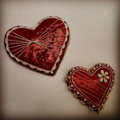 Valentine's hearts. Valentýnská srdíčka.