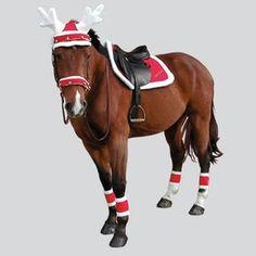 Christmas saddle pad on Ekkia, the horse\u0027s world. ChevalNoelPlaisir De  NoëlDéguisement De Cheval HalloweenCostumes De NoëlChevaux Miniatures Accessoires