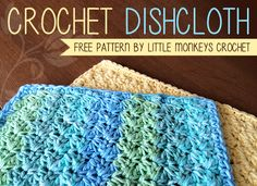 Crochet Dishcloth Free Crochet Pattern | by Little Monkeys Crochet