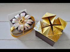 Tutorial: Box mit Blickfang für kleine Schokoladentafeln (Stampin' Up!) - YouTube