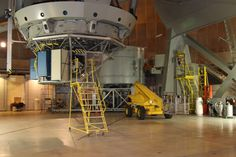The view of the base of the 200 inch telescope at Mt.Palomar