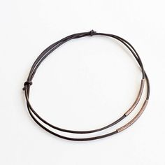 Adjustable Leather & Brass Tube Bracelet by SweetMayhemBoutique, $6.00