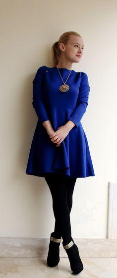 Abito blu del marchio Novorish by @teresamorone
