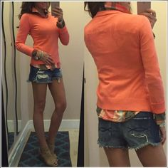 """Diesel sweater Cute and stylish v neck thin sweater from Diesel. The writing on the back is spelled out with a laser cut style. Pink-coral in color. Women's size M, but runs small, so this would fit an XS/S best. Euc *laying flat •armpit to armpit 16.5"""" •shoulder to hem 21"""" •armpit to wrist 20.5"""" Diesel Sweaters V-Necks"""