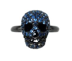 #Sapphire #Skull #Ring <3