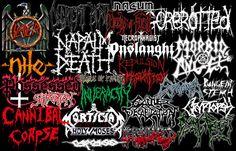 death by heavy metal   Heavy Metal Music Death Metal Logos