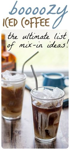 Ideas for boozy iced coffee concoctions, whether the weather is hot ...