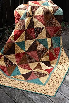 { The Sweetest Dreams }: {Anniversary Quilt} Late Bloomers Fall Quilts, Scrappy Quilts, Flannel Quilts, Quilting Projects, Quilting Designs, Quilting Tips, Quilt Inspiration, Half Square Triangle Quilts, Civil War Quilts