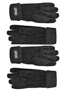 fbc4a65ab97 Black 2-Pack Thermal Insulated Lined Chenille Gloves For Women Mitten  Gloves