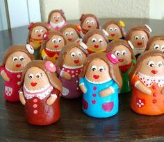 Mini Ninas, bonecas em ceramica.