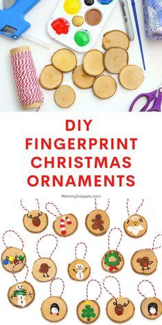 Kids Christmas Ornaments, Christmas Countdown, Christmas Diy, Xmas, Kindergarten Christmas Crafts, Christmas Activities For Kids, Homemade Calendar, Fingerprint Crafts, Homemade Christmas Gifts