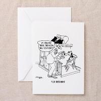 CafePress Flea Bargaining Greeting Card