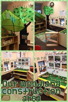 Wish we had the space for this woodland construction area Year 1 Classroom, Forest Classroom, Early Years Classroom, Eyfs Classroom, Classroom Layout, Classroom Organisation, Classroom Design, Classroom Themes, School Displays