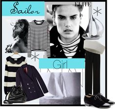 """Sailor Girl"" by agathap ❤ liked on Polyvore"