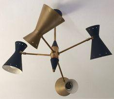 Vintage Diabolo Ceiling Lamp, 40s / 50s