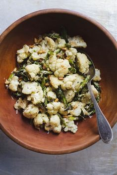 Roasted Asparagus and Cauliflower Salad: Perfect Potluck Salad