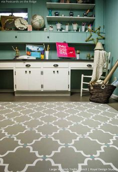 66 Best Stenciled Concrete Images In 2019 Cement Floor