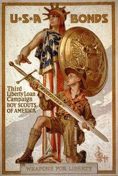 USA Bonds Liberty Loan Campaign Poster 8x12 PopMount Ready to Hang. $35.00, via Etsy.