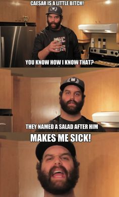 Epic Meal Time, I could listen to this guy all day!!