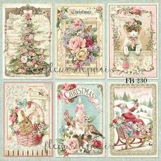 ~ Shabby Chic Vintage Pink Christmas Angels Santa 9 Prints on Fabric FB 230 ~ Vintage Pink Christmas, Shabby Chic Christmas, Christmas Fabric, Victorian Christmas, Christmas Angels, Christmas Art, Christmas Ornaments, Silver Christmas, Vintage Cards