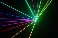 Laser                    In my opinion the laser technology comes from focusing photons of lights on a single spot and such approach makes it more powerful than a beam of light. In addition I heard many times that it is dangerous to point out a laser dot in someones eye.                  Furthermore as we learned about LEDs and that recently blue LED got invented now that I think about it I assume I have never seen a blue laser although Ive seen red laser and in few cases green laser…