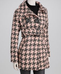 Pink & Gray Houndstooth Jacket