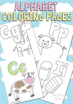 Free Printable Alphabet Coloring Pages - Easy Peasy and Fun: