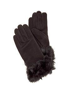 Isotoner Stretch Fleece Glove With Fur Cuff #belk