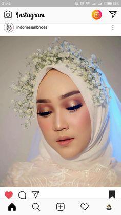Hijabi Wedding, Muslimah Wedding Dress, Arab Wedding, Hijab Wedding Dresses, Dream Wedding Dresses, Korean Wedding, Bridal Makeup Looks, Natural Wedding Makeup, Bride Makeup