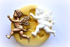 0879 Cherub Angel Running with Sash Silicone Rubber by MasterMolds, $8.00