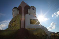 Buddhas. Yangon. Burma