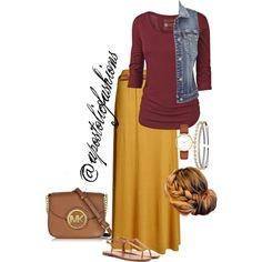 Apostolic Fashions #1646 by apostolicfashions on Polyvore featuring Fat Face, maurices, Yves Saint Laurent, Michael Kors, Kate Spade, Charlotte Russe and Jennifer Lopez