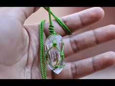 collar con cuarzo en macramé how to wrap stone quarz theartemanual - YouTube