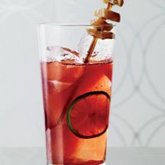 Typically relegated to summer sippers, tequilla gets the holiday treatment in the Dahlgren. With tawny port, bitters and ginger syrup, it's the drink you want if you prefer Jose to Johnnie. From @Food & Wine, found at www.edamam.com.