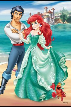 Ariel's new dress went from Pink to Green