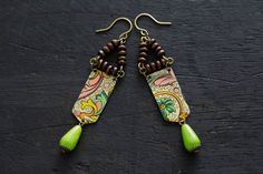 Hey, I found this really awesome Etsy listing at https://www.etsy.com/listing/279270796/green-tribal-earrings-with-wooden-beads