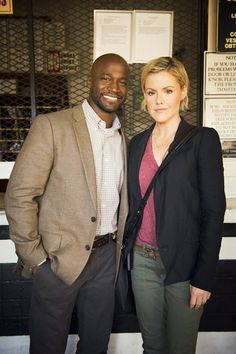 "Murder in the First-Taye Diggs | Taye Diggs and Kathleen Robertson in ""Murder in the First"""