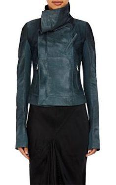 RICK OWENS Calf Hair Biker Jacket. #rickowens #cloth #jacket