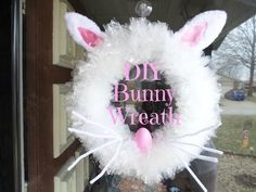 DIY Easter Bunny Wreath - YouTube