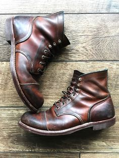 Red Wing Iron Ranger Boots. I've had these for 7 years and they look better every time I wear them. #mensboots