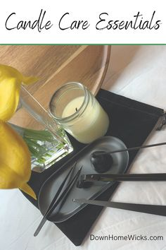 Invest in a candle care kit. Candles can be expensive to buy or to make. The 3 tools in this kit are a wick trimmer, wick dipper, and a snuffer. Offer these kits with your candle care cards. Paraffin Candles, Taper Candles, Pillar Candles, Candle Store, Natural Candles, Candle Containers, Candle Companies, Dipper, Burning Candle
