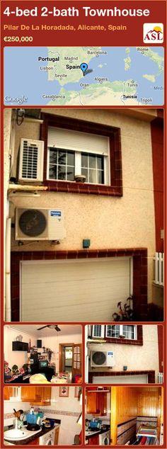 4-bed 2-bath Townhouse in Pilar De La Horadada, Alicante, Spain ►€250,000 #PropertyForSaleInSpain