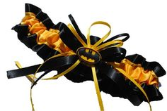 Batman Themed Wedding Garter - grr wish I had known about this before!